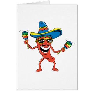 Mexikanischer Chili-Pfeffer Grußkarte
