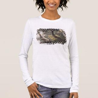 Mexikanischer Eidechsen-Fänger, graviert von Langarm T-Shirt