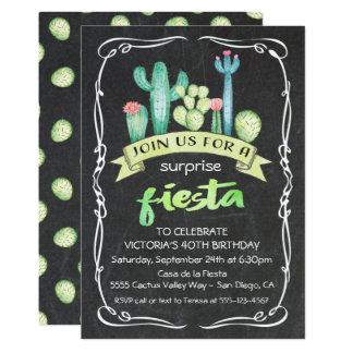 Mexikanischer Fiesta-Aquarell Kaktus und Karte