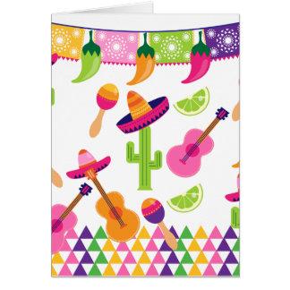 Mexikanischer Fiesta-PartySombrerosaguaro-Limone Karte