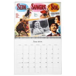 Mexikanischer Film-Plakat-Wandkalender 2017 Abreißkalender