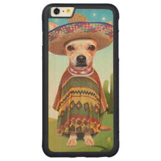 Mexikanischer Hund, Chihuahua Carved® Maple iPhone 6 Plus Bumper Hülle