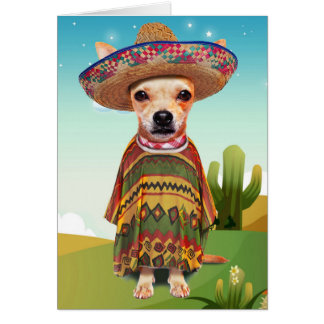 Mexikanischer Hund, Chihuahua Karte