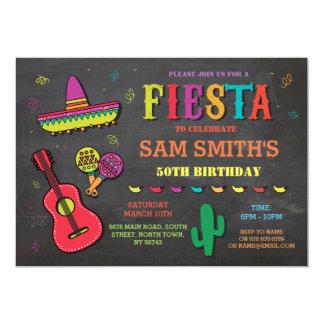 Mexikanischer Hut-Party Geburtstags-Fiesta-Mexikos 12,7 X 17,8 Cm Einladungskarte