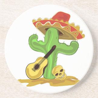 Mexikanischer Kaktus Sandstein Untersetzer