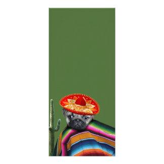 Mexikanischer Mopshund Werbekarte