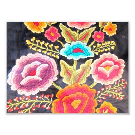 Mexikanischer Stickereientwurf Fotodrucke