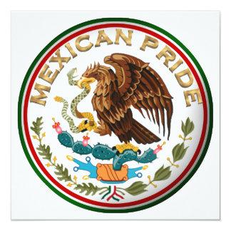 Mexikanischer Stolz (Eagle von der mexikanischen Quadratische 13,3 Cm Einladungskarte