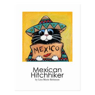 Mexikanischer Tramper-wunderliche Postkarte