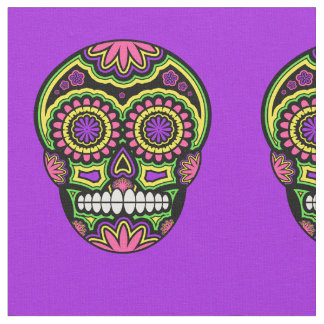 Mexikanischer Zuckerschädel-Muster-Tag der Toten Stoff