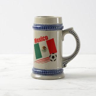 Mexikanisches Fußball-Team Bierglas