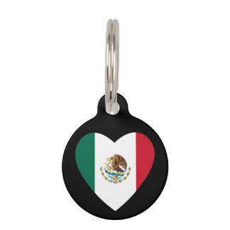Mexikanisches Herz Haustiermarke