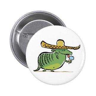 mexikanisches liebevolles Gürteltier der Eiscreme Runder Button 5,7 Cm