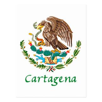 Mexikanisches nationales Siegel Cartagenas Postkarte