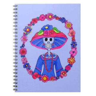 Mexikanisches Schädel-Notizbuch Notizblock