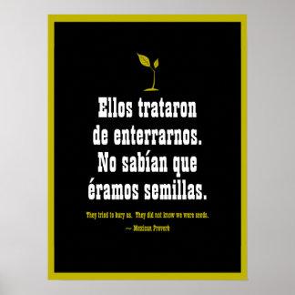 Mexikanisches Sprichwort Poster