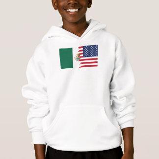 Mexiko-amerikanische Flagge Hoodie