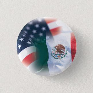 Mexiko-amerikanischer Knopf-kleine Runde Runder Button 3,2 Cm