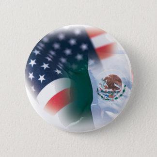 Mexiko-amerikanischer Standard, 2 ¼ Zoll-runder Runder Button 5,7 Cm
