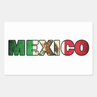 Mexiko-Aufkleber Rechteckiger Aufkleber
