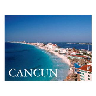 Mexiko, Cancun, Luftaufnahme der Hotels Postkarte
