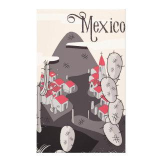 Mexiko-Cartoon-Stadt Leinwanddruck