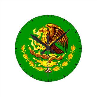 Mexiko COA-Gold Runde Wanduhr