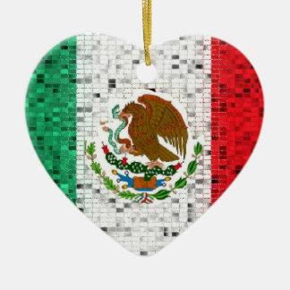 Mexiko-Flaggen-Glitterverzierung Keramik Ornament