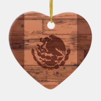 Mexiko-Flaggen-Marke Keramik Herz-Ornament