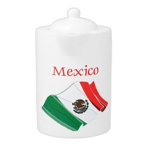 Mexiko-Flaggen-Porzellan-Teekanne