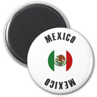 Mexiko-Flaggen-Rad Runder Magnet 5,1 Cm
