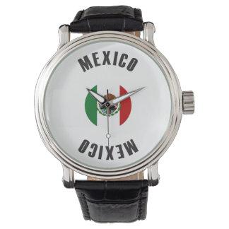 Mexiko-Flaggen-Rad Uhr