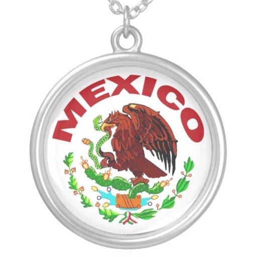 MEXIKO-HALSKETTE HALSKETTE MIT RUNDEM ANHÄNGER