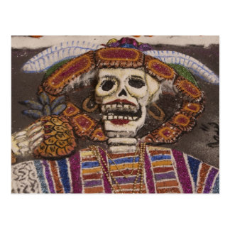 Mexiko, Oaxaca. Sandtapisserie (Tapete de arena) Postkarte