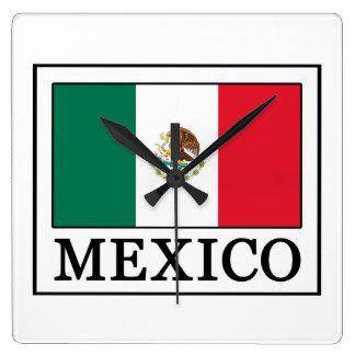 Mexiko Quadratische Wanduhr