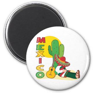 Mexiko Runder Magnet 5,7 Cm