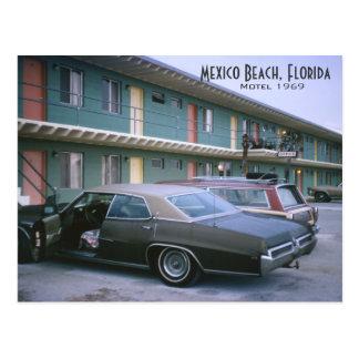 Mexiko-Strand, Florida 1969 Retro Motel-Postkarte Postkarte
