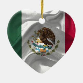 MexikoFlagge Keramik Herz-Ornament