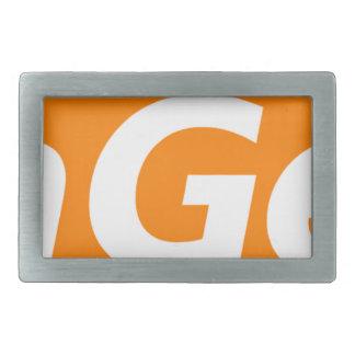 MG-Logo-GROSS Rechteckige Gürtelschnalle