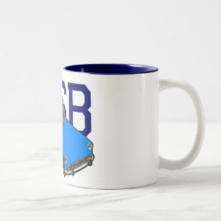 MGB-Blau Zweifarbige Tasse