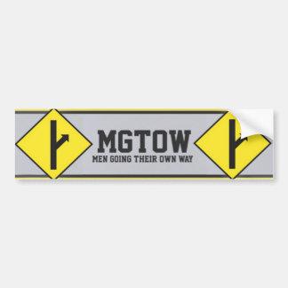 MGTOW - Gehende Männer ihre eigene Weise Autoaufkleber