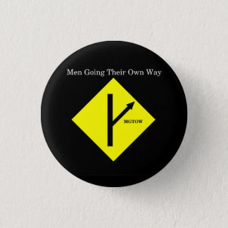 MGTOW Logo-Knopf-Klein-Schwarzer Hintergrund Runder Button 2,5 Cm