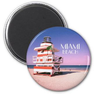 Miami Beach #01 Runder Magnet 5,1 Cm