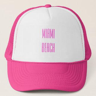Miami Beach-Fernlastfahrer-Hut Truckerkappe