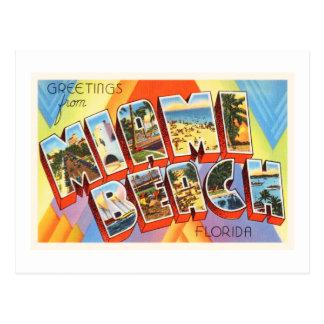 Miami Beach Florida alte Vintage Reise-Andenken Postkarte