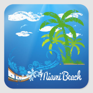 Miami Beach-Florida-Andenken Aufkleber