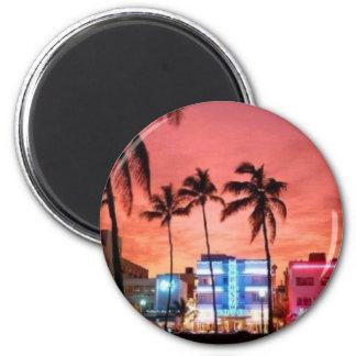 Miami Beach, Florida Runder Magnet 5,7 Cm
