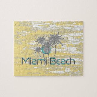 Miami Beach, Florida, Palmen, Grunge cool Puzzle
