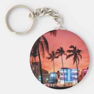 Miami Beach, Florida Standard Runder Schlüsselanhänger
