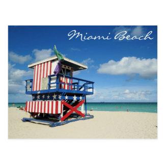 Miami Beach-Florida-Wachturm Postkarte